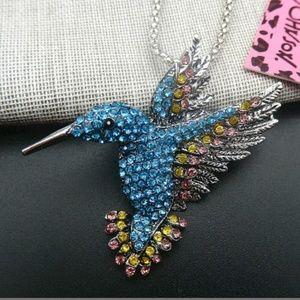 New Betesy Johnson hummingbird necklace